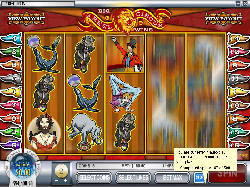 Spiele 5 Reel Circus - Video Slots Online